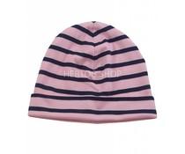 Bretonse streep-muts  Roze-marineblauw