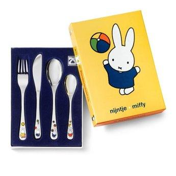 Zilverstad Kinderbestek Nijntje/Miffy 4-delig kleur 6827030