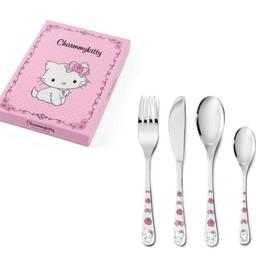 Zilverstad Zilverstad Charmmy Kitty Children's Cutlery 4-Piece 684603