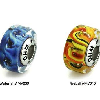 OHM Beads Waterfall AMV039 of Fireball AMV040