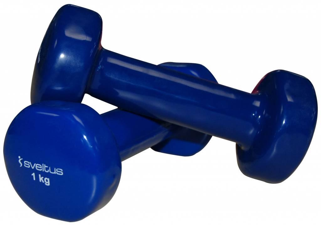 Sveltus Epoxy Dumbbell 1 kg x 2 Blue