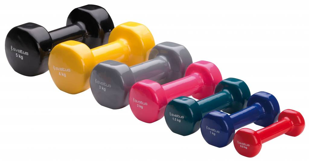 Sveltus Epoxy Dumbbell 1 kg x 2 Blue