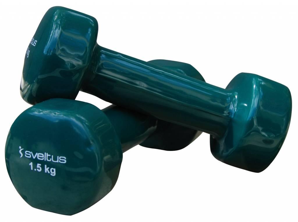 Sveltus Epoxy Dumbbell 1.5 kg x 2 Green