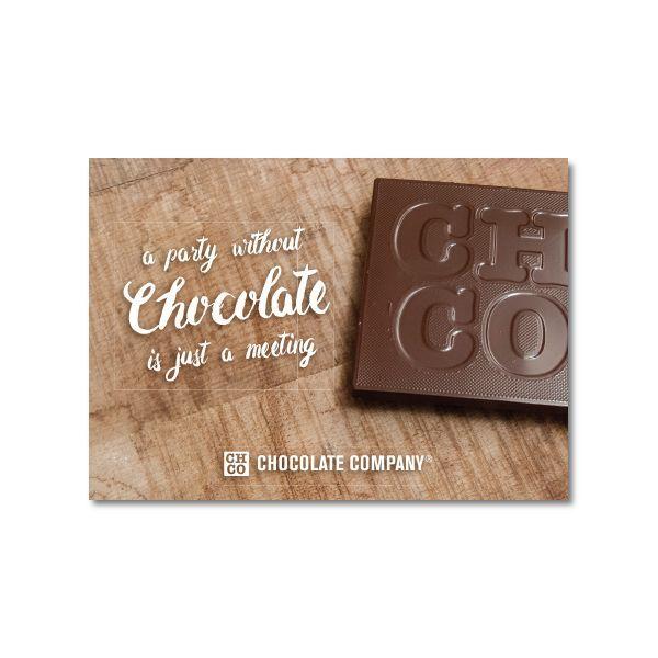 PARTY CHOCOLATE KAART