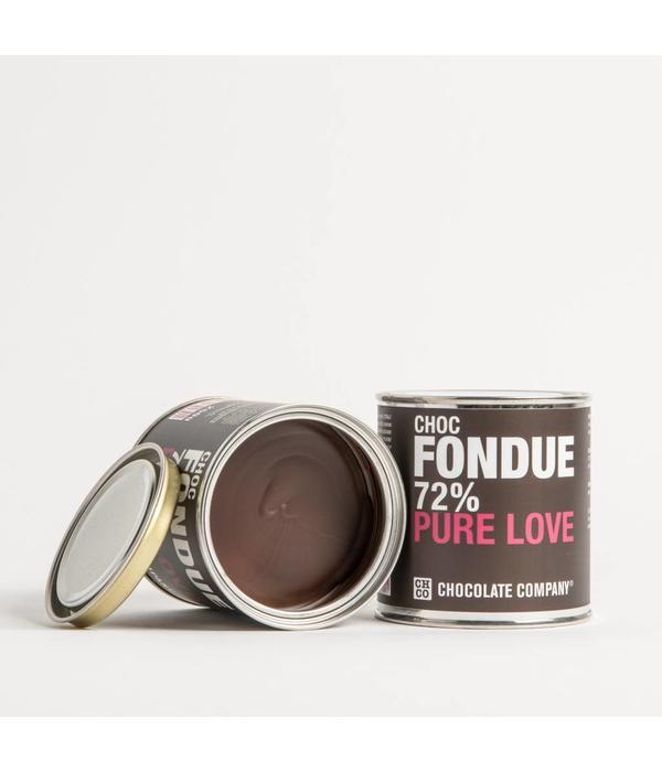 DARK PURE LOVE 72% CHOCOLATE FONDUE