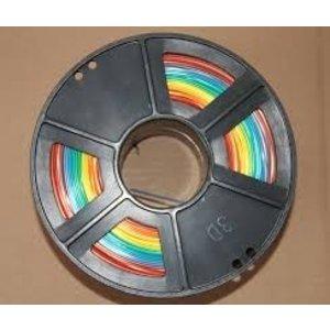 Rainbow Pack 7 kleuren PLA. Wit, zwart, rood, geel, groen, blauw en grijs.