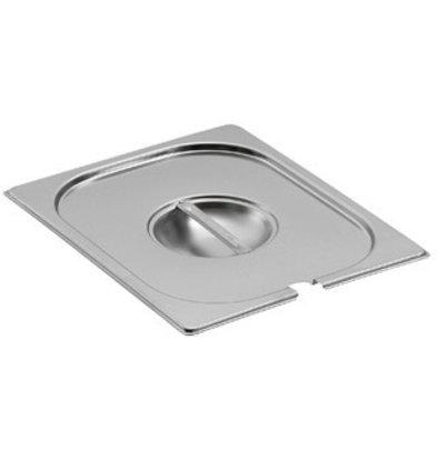 Saro Gastronorm Behälter - Deckel mit Löffelauss. GN 1/9