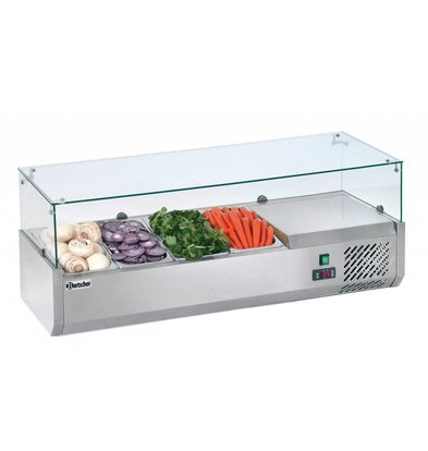 Bartscher Kühlaufsatzvitrine 4x1/3GN T150