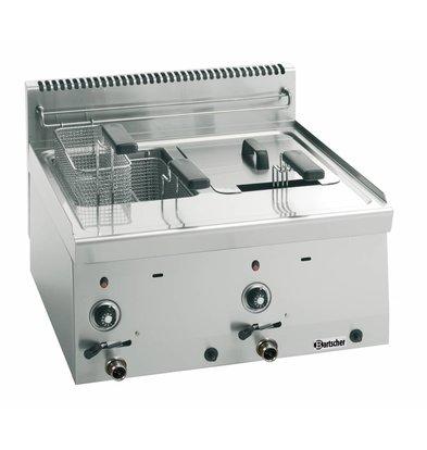 Bartscher Gas Fritteuse - 2 x 8 Liter - Serie 600