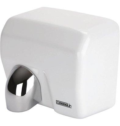 Casselin Händetrockner Weiß Stahl mit Schwenkkopf | 12-15 Sekunden | 2500W