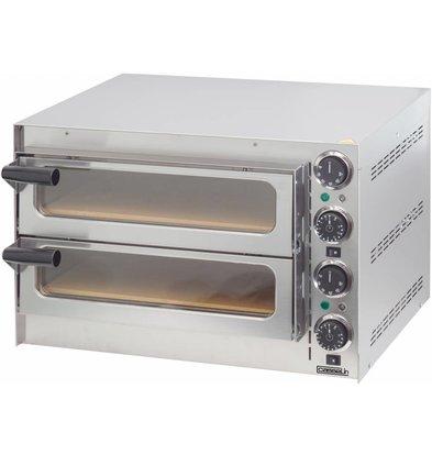 Casselin Pizzaofen 2 Kammern 410x370x90mm - 2700W