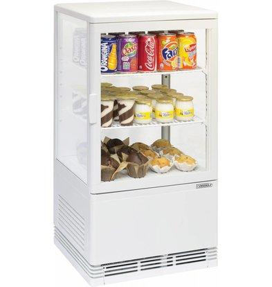 Casselin Mini Kühlvitrine 58l weiß mit Innenbeleuchtung
