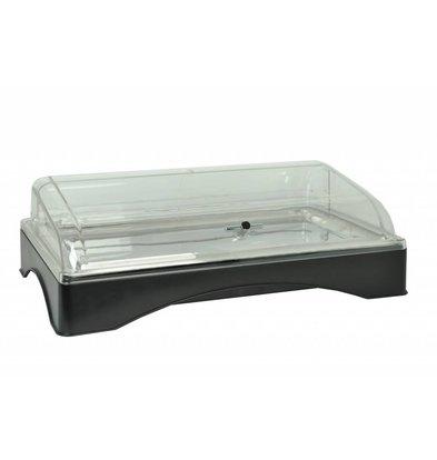 Hendi Rolltop-Präsenter gekühlt - GN 1/1. | Edelstahl-Plattform, Kälte-Akku, PC-Kappe