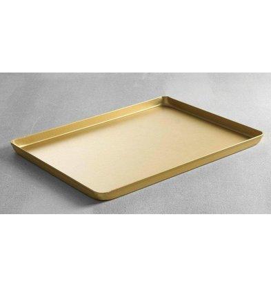 Hendi Vitrinenblech Gold 400x300 mm