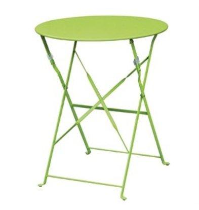 Bolero Bolero klappbarer Stahltisch rund 60cm hellgrün