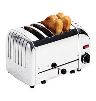 XXLselect Dualit Toaster 4 Edelstahl + Chrom
