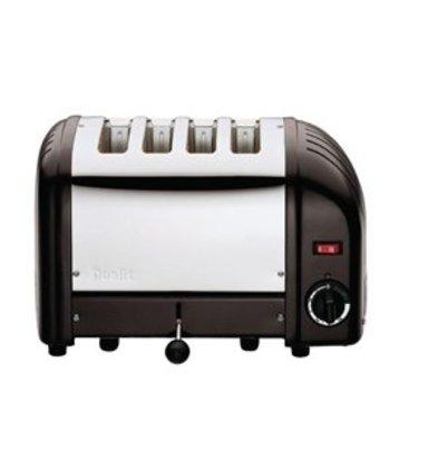 XXLselect Dualit Toaster 4 Edelstahl + schwarz