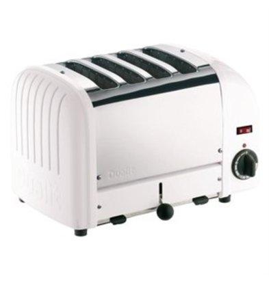 XXLselect Dualit Toaster 4 Edelstahl + weiß