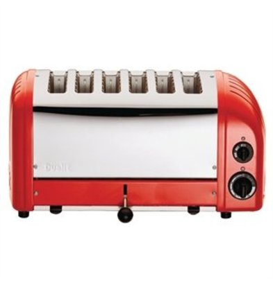 XXLselect Dualit Toaster 6 Edelstahl + Rot
