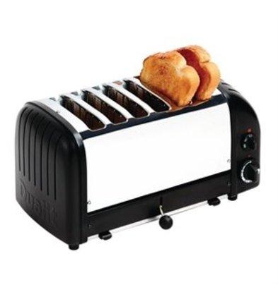XXLselect Dualit Toaster 6 Edelstahl + schwarz