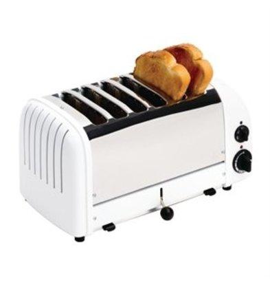 XXLselect Dualit Toaster 6 Edelstahl + weiß