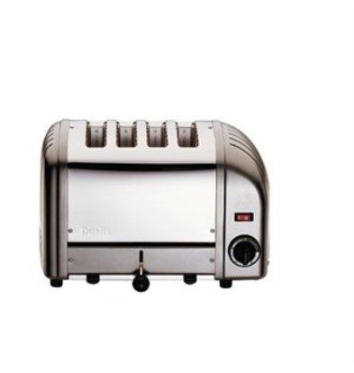 XXLselect Dualit Vario Toaster grau 4 Schlitze