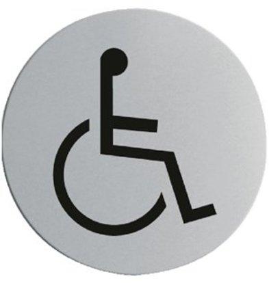 XXLselect Edelstahl Türschild Rollstuhlfahrer