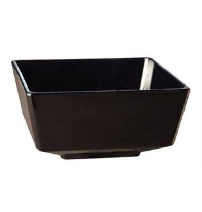 XXLselect Float melamine viereckige Schüssel schwarz 9cm