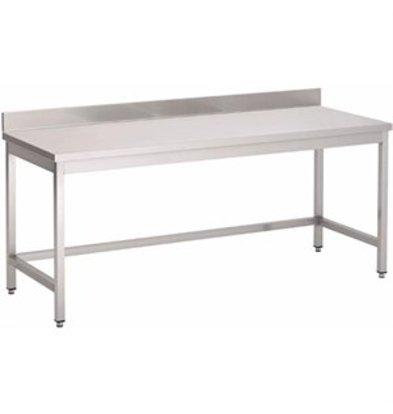 XXLselect Gastro-M Arbeitstisch mit Aufkantung ohne Regalboden 1000x700x850mm