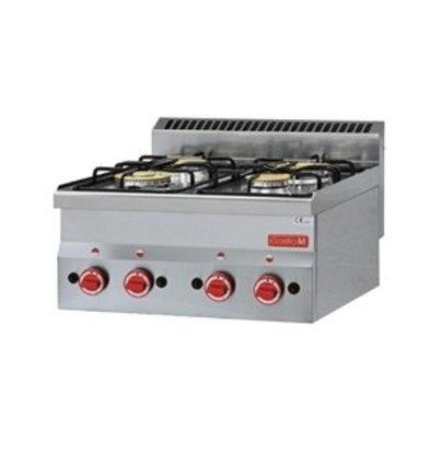 XXLselect Gastro-M Herdplatten Gasanschluss 60/60 PCG