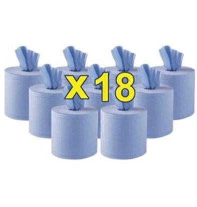 Jantex Jantex Handtuchrollen für Innenabrollung blau 2-lagig 18er Pack