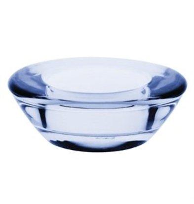 XXLselect Olympia flacher Teelichthalter blau