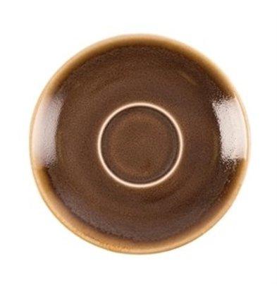 XXLselect Olympia Kiln Espresso Untertasse Borke 11,5cm
