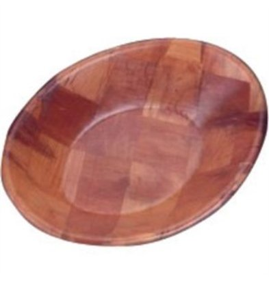 XXLselect Ovale Holzschale 30x23cm