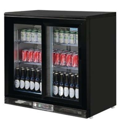 XXLselect Polar 2-türige Bar-Kühlvitrine 182 Flaschen