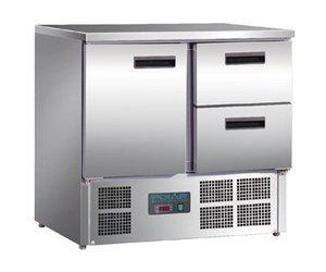 Kühlschrank Xxl Schwarz : Xxlselect polar arbeitstisch mit kühlschrank edelstahl 1 tür und 2
