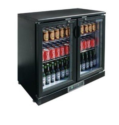 XXLselect Polar Bar-Kühlvitrine Klapptüren 182 Flaschen