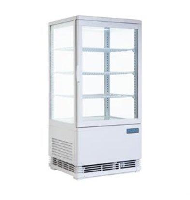 XXLselect Polar Kühlvitrine mit gebogenen Türen 86L