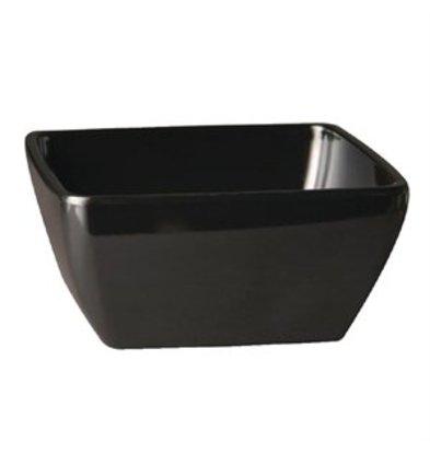 XXLselect Pure Melaminschüssel viereckig zwart 9x9cm