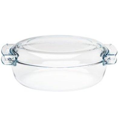 XXLselect Pyrex ovale Kasserolle 4,5Ltr