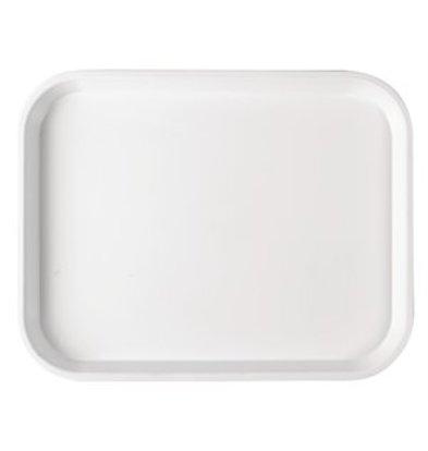 XXLselect Serviertablett Polysterol weiß 30x22,5cm