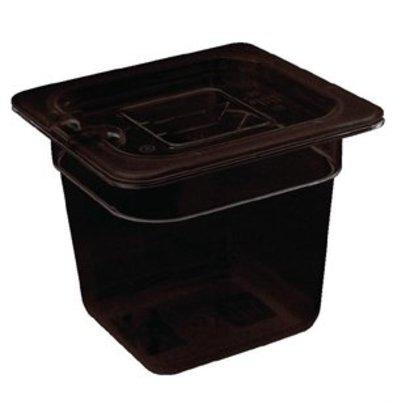 XXLselect Vogue GN-Behälter 1/6 schwarz 65mm