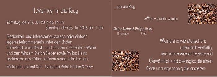 1. Weinfest im Allerkrug