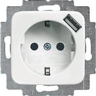 Busch-Jaeger wantcontactdoos met USB 2011-0-6157
