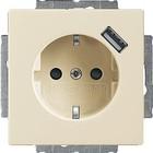 Busch-Jaeger wandcontactdoos met USB lader 2011-0-6159