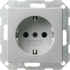 Gira wandcontactdoos aluminium 046626