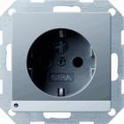 Gira wandcontactdoos met led orientatieverlichting RVS 117020