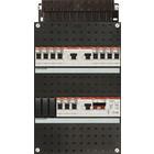 ABB 1-Fase 3 aardlekschakelaars + beltransformator 11 groepen  HAD343433-222T+H42