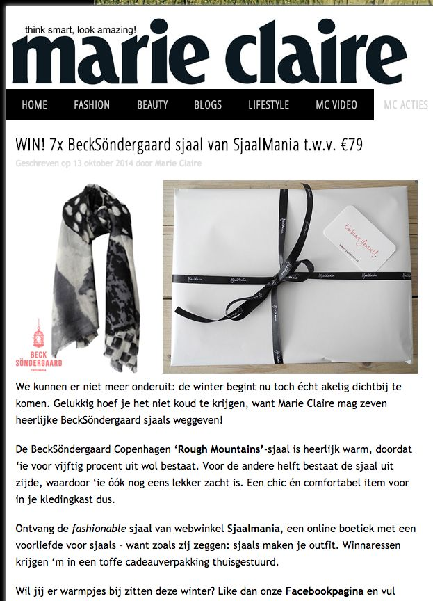 Marie-Claire Mail & Win