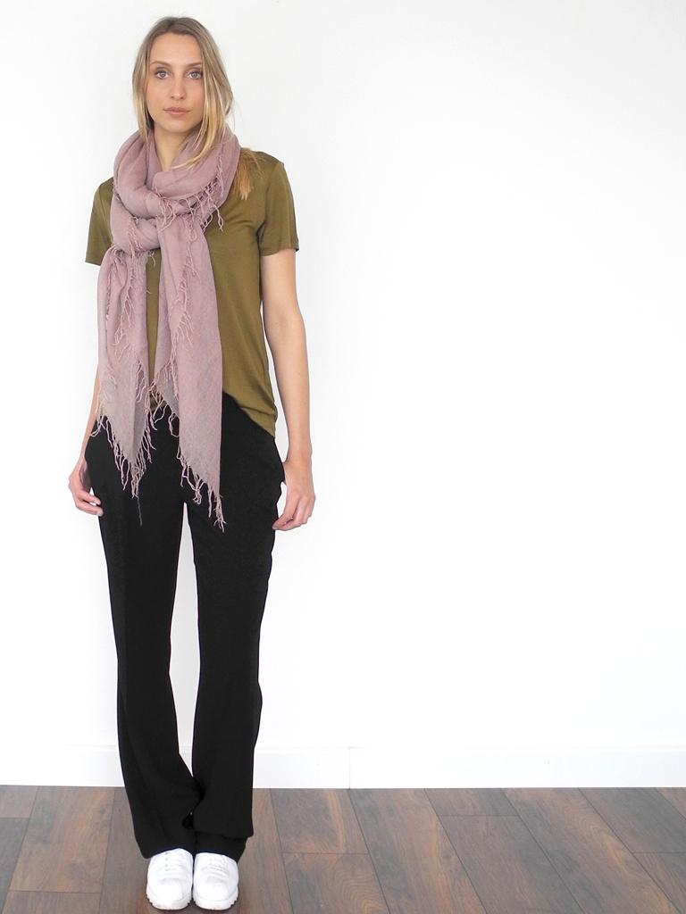 cashmy sjaal pale mauve